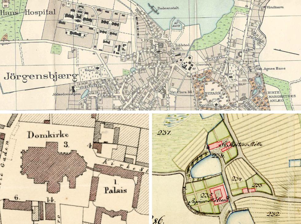 Historiske Kort Over Roskilde
